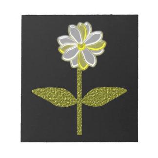 Libreta de la flor de la margarita que brilla inte blocs