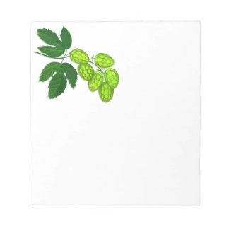 Libreta de la flor de los saltos blocs de papel