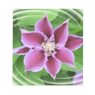 Libreta de la flor del Clematis Blocs De Notas