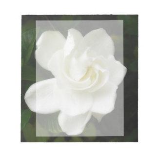 Libreta de la flor del Gardenia Libretas Para Notas