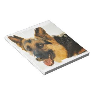 Libreta de la foto del perro de pastor alemán bloc de papel