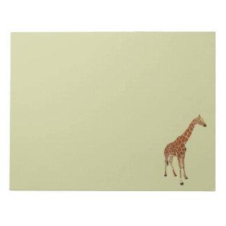 Libreta de la jirafa bloc de notas