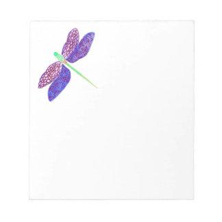 Libreta de la libélula bloc de papel