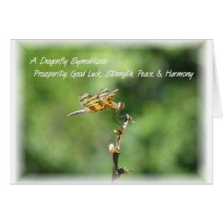 Libreta de la libélula tarjeta pequeña