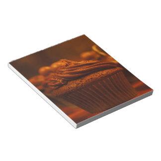 Libreta de la magdalena del chocolate bloc de papel