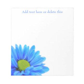 Libreta de la margarita azul bloc de papel
