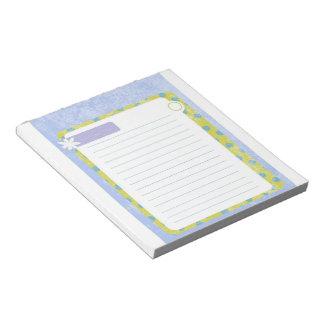 Libreta de la margarita bloc de papel