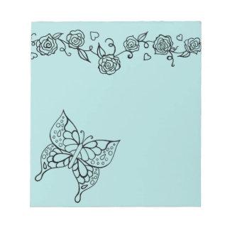 Libreta de la mariposa de la aguamarina libretas para notas