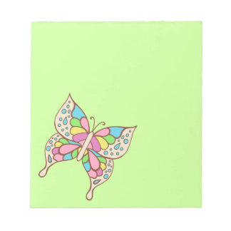 Libreta de la mariposa del arco iris blocs