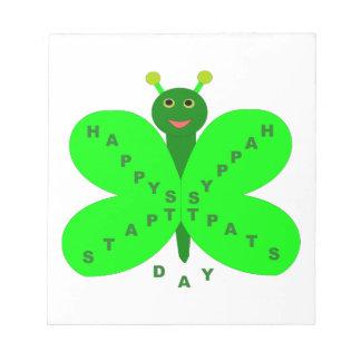 Libreta de la mariposa del día de Patricks del san Libretas Para Notas