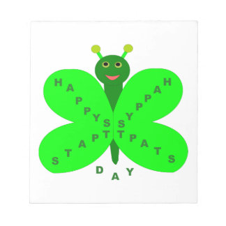 Libreta de la mariposa del día de Patricks del san Blocs De Papel