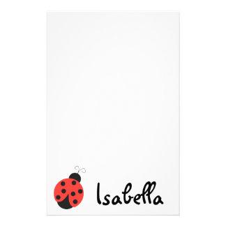 Libreta de la mariquita personalized stationery