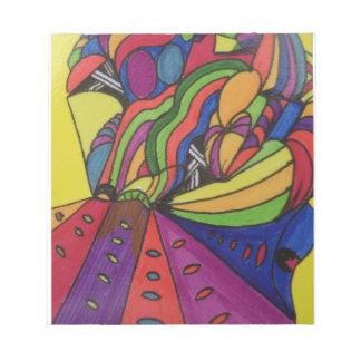 Libreta de la nota con diseño abstracto libreta para notas