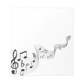 Libreta de la nota musical blocs