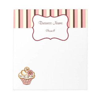 Libreta de la panadería de la magdalena bloc de papel