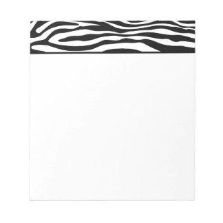 Libreta de la raya de la cebra blocs de notas