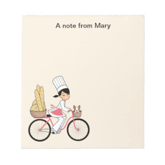 Libreta de la receta del chica del dibujo animado bloc de notas