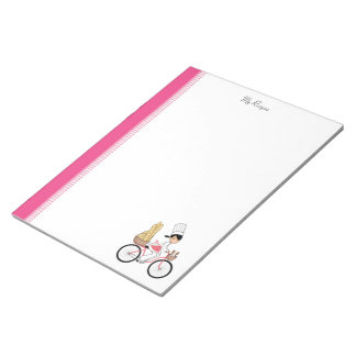 Libreta de la receta del chica del dibujo animado bloc de papel