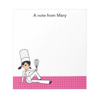 Libreta de la receta del chica del dibujo animado libretas para notas