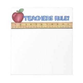 Libreta de la regla de los profesores libreta para notas