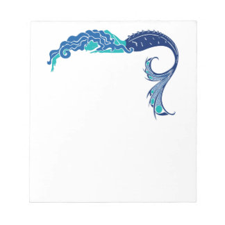 Libreta de la sirena en los colores del pavo real bloc de notas
