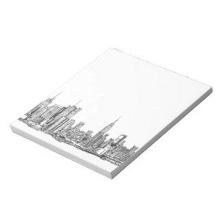 Libreta de la tinta del horizonte de Nueva York pe Bloc