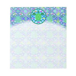 Libreta de la tortuga de mar verde bloc de notas