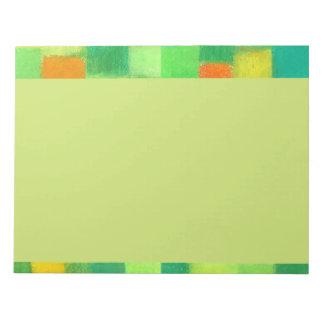 Libreta de la vara de oro de la primavera de 4 est bloc de papel