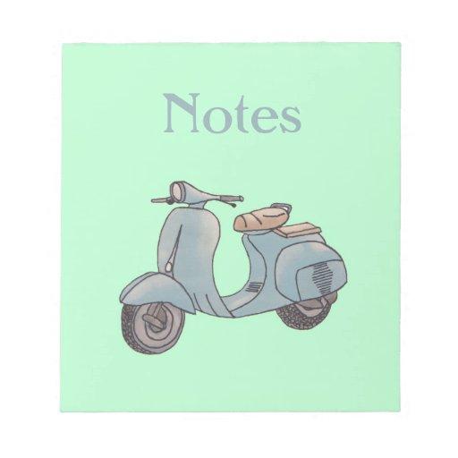 Libreta de la vespa bloc de notas