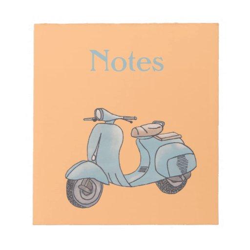 Libreta de la vespa blocs de notas