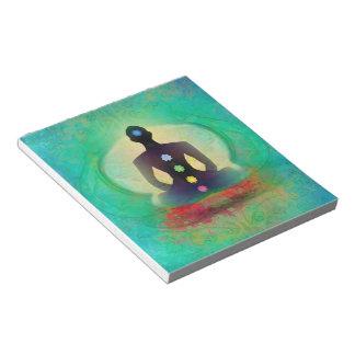 Libreta de la yoga de la meditación libreta para notas