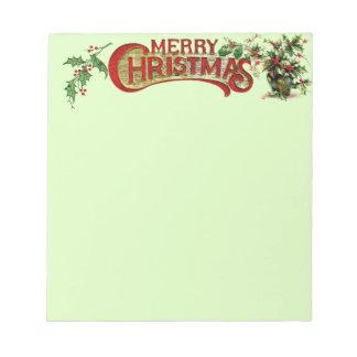 Libreta de las Felices Navidad Libreta Para Notas