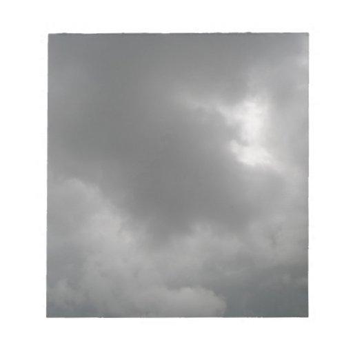 Libreta de las nubes de tormenta bloc de notas