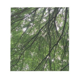Libreta de las ramas y de las hojas libreta para notas