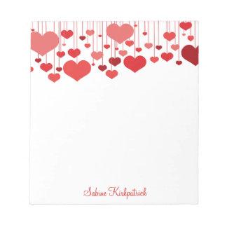 Libreta de las tarjetas del día de San Valentín de Blocs De Notas