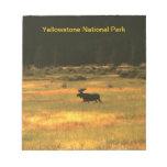 Libreta de los alces de Yellowstone Bull Blocs De Notas