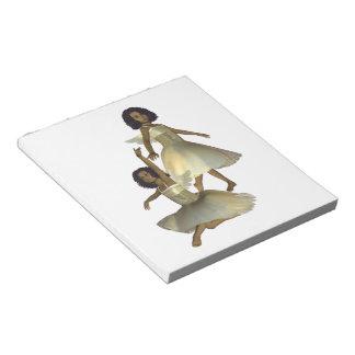 Libreta de los ángeles del baile blocs de notas