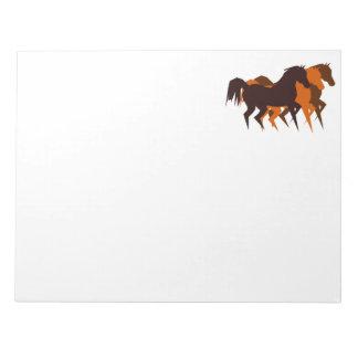 Libreta de los caballos bloc de papel