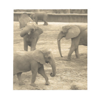 Libreta de los elefantes - por la sabana del libreta para notas