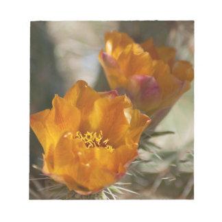 Libreta de los flores del cactus de Staghorn Choll Bloc De Notas