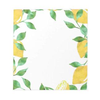 Libreta de los limones de la acuarela blocs