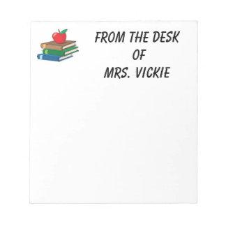 Libreta de los profesores blocs de notas