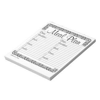 Libreta de lujo del plan de la comida libretas para notas