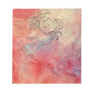 Libreta de mármol rosada del cáncer bloc de notas