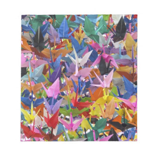 Libreta de papel de 1.000 grúas de Origami Bloc De Notas