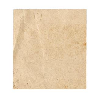 Libreta de papel vieja blocs de papel