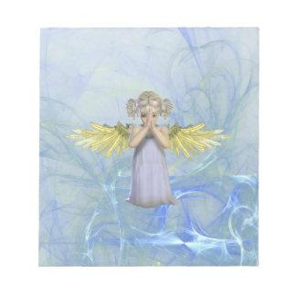 Libreta de rogación del ángel bloc de papel