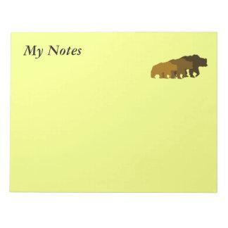 Libreta de tres osos bloc de notas
