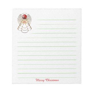 Libreta del ángel de las Felices Navidad - Blocs De Notas