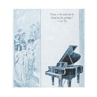 Libreta del anuncio de los ángeles del piano de St Blocs